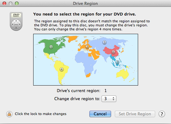 Two Methods to Play Different Regions DVD on Mac