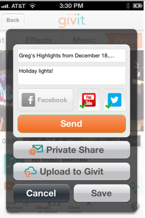 Givit's New Feature: Video Sharing to Twitter, Connecting to Dropbox
